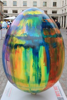 43. Tie Dye Egg  by Lindsey Bull  Lindsey Bull completed her MA in Fine Art at Chelsea College of Art and Design, London, in 2009. Recent solo exhibitions include 'Darkling', Motorcade/FlashParade, Bristol, 2012; and 'Out of the Cosmic Storm', Transition gallery, London, 2012. Group shows include 'Griffin Art Prize', London; 'Triptych', Piccadilly Place, Manchester; 'Apophenia', China shop gallery, Oxford; and 'Painting Rituals', Coldharbour gallery, London. She was awarded the Brenda Landon…