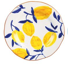 Lemon Twig Plate Dark Blue - Courthouse Interiors