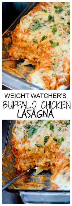 Weight Watcher Recipes - Buffalo Chicken Lasagna #buffalochicken #chicken Recipe Diaries