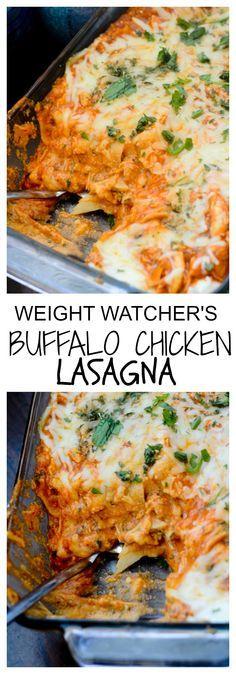 Weight Watcher Recipes - Buffalo Chicken Lasagna #buffalochicken #chicken Recipe Diaries