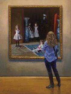 """Sisterhood 9 x 12"""" SOLD (framed) Karin Jurick"""