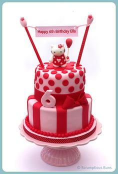 Hello Kitty Stacked Cake by Scrumptious Buns (Samantha), via Flickr
