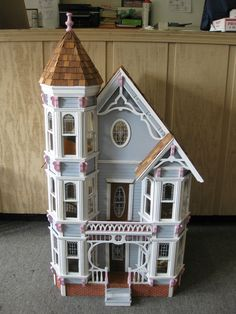 Victorian 1:16 Wood Dollhouse Fully Furnished 3 Story 43x24x22 CHRISTMAS AWAITS!