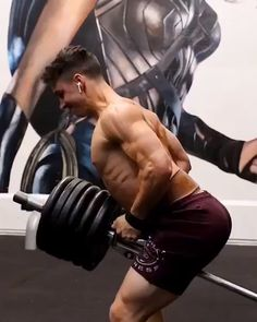 Gymshark athlete Fraser Wilson ( works on T Bar Rows. For a full upper body workout try adding: Lat Pulldowns Seated Cable Row Trap Bar Rack Pulls Wide Barbell Shrugs and Reverse Pec Dec. Back Workout Men, Full Upper Body Workout, Gym Workout Chart, Gym Workout Videos, Workout Wear, Fitness Workouts, Weight Training Workouts, Fun Workouts, Workout Routines
