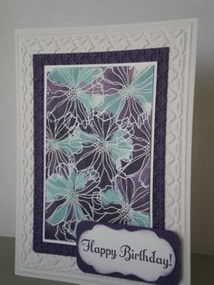 Watercolor look by craftylou3 - Cards and Paper Crafts at Splitcoaststampers