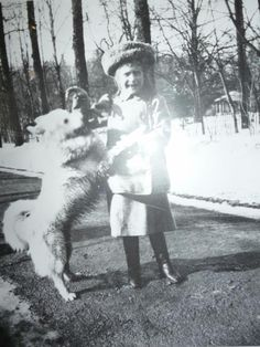 Anastasia with Dog