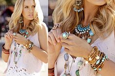 can never go wrong with turquoise jewelry... goes with EVERYTHING! <3