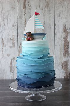 Teddy bear little sailor cake by bubolinkata, via Flickr