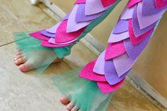 Schwanzflosse aus Tüll zum Kostüm basteln