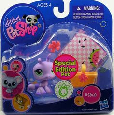 Littlest Pet Shop Ant 1308 Special Edition Pet with basket