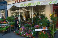 Flower Shop Latin Quarter Paris France Europe