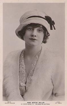 Gertie Millar, actress, 1912