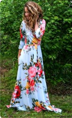 floral wrap maxi dress, ootd, spring outfits, mothers day dresses, wrap maxi dre… – Daily Posts for Women Short Beach Dresses, Spring Dresses, Spring Outfits, Cute Dresses, Ootd Spring, Maxi Dresses, Spring Wear, Spring Clothes, Flower Dresses