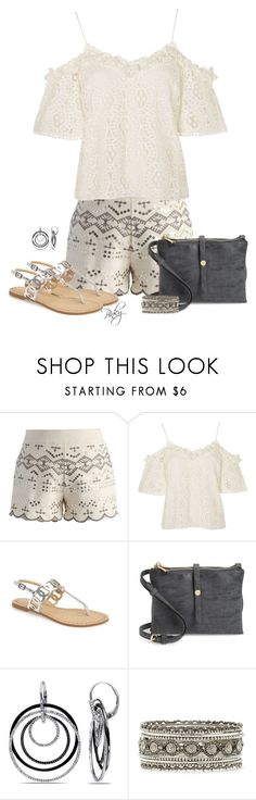 """Sequin Embellished Shorts"" by pinkystyle ❤ liked on Polyvore featuring Chicwish, Topshop, Daya, BP., Ice and Forever 21"