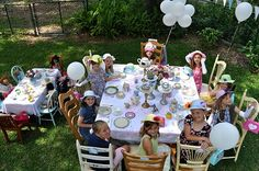cute doll tea party