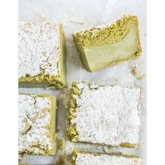 Matcha (Japanese green tea) magic custard cake from Raspberri Cupcakes by Stephanie Michaelis Green Tea Recipes, Sweet Recipes, Cake Recipes, Dessert Recipes, Green Tea Dessert, Matcha Dessert, Asian Desserts, Just Desserts, Delicious Desserts