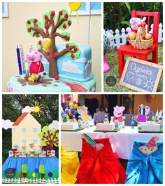 Peppa Pig 3rd birthday party via Kara's Party Ideas KarasPartyIdeas.com Printables, cake, decor, desserts, games, and more! #peppapig #peppa...