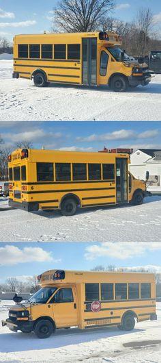 Short Bus For Sale, Buses For Sale, Motorhome, Blue Bird, Chevrolet, Rv, Windows, Motor Homes, Camper