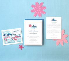 Visit Washington D.C. Wedding Invitation by Lab Partners for Hello!Lucky