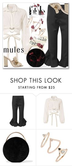 """Slip 'Em On: Mules"" by andrejae ❤ liked on Polyvore featuring Goen.J, Cinq à Sept, Eddie Borgo, Topshop, Gucci, mules, polyvoreeditorial and polyvorecontest"