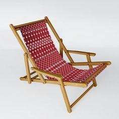 Buy N94 - Berry Red Berber Atlas Traditional Moroccan Pattern Design Sling Chair by arteresting. Worldwide shipping available at Society6.com. Just one of millions of high quality products available.