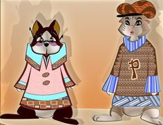Sunnie & Polli as Oka & Spings (Merchandising Puppets)