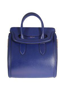 Feeling blue? Alexander McQueen Handbags :: Alexander McQueen blue leather Heroine handbag | Montaigne Market