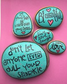 Best painted rock art ideas with quotes you can do (3)