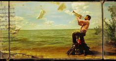 """Dream a Little Dream of Me"" Petr Lovigin solo exhibition  artwork : Petr Lovigin, What a Wonderful World! My Louis! (2012), pigment print on Hahnemühle paper, 40x50cm, ed.3/3"