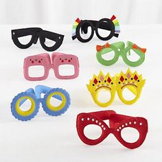 Kid's Plush Play Glasses (Our Children Would Love These for Dress-Up Play, & I Think They'd Be Great for My Eye Doc Husband's Patients to Play w/, Too)