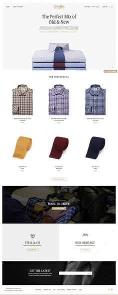 Since 1978, #Gitman Bros. has been #manufacturing the finest shirts and ties in the USA. Shop our extensive collection onl - Best Webdesign inspiration on www.niceoneilike.com #Shop, #html5, #css3, #jQuery, #Inspiration, #Website