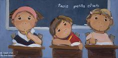 Guylène Saucier, 'Ouvrez votre cahier', 10'' x 20'' | Galerie d'art - Au P'tit Bonheur - Art Gallery Art Informel, Easy Patterns, Galerie D'art, Arts, Art For Kids, Art Gallery, Family Guy, Portraits, Paintings