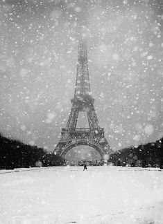 ♔ Paris in the snow