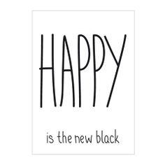 Mini Willa . Print / Poster . Happy Is The New Black / A3