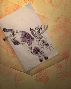 """""""Little Dahlia Jackalope #knoteyestudio"""""""