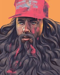 """""""Run Forrest Run!"""" Illustration by David Belliveau(@davidbelliveauillustration). #illustration #painting #art #forrestgump #portrait #davidbelliveauillustration #inspiration by fromupnorth"""