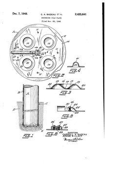 Patent US2455641 - Grounding pole plate - Dec 7, 1948
