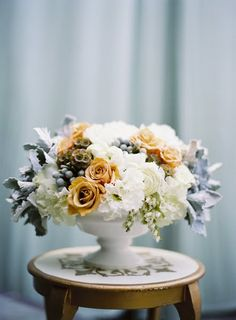 "Vintage flower arrangement by JL Designs ... Loving the colors!  In my head I just keep saying ""yes!"" to this arrangement."