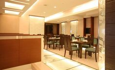Grand Four Wings Convention Hotel Hotel Floor Plan, Five Star Hotel, Interior Architecture, Coffee Shop, Floor Plans, Restaurant, Japanese, Flooring, Table