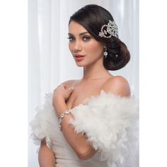 The 'Cassidy' Large Diamonte Bridal Headpiece – Roman & French - Leader in Bridal Jewellery, Wedding Hair Accessories, Bridesmaids Dresses and Wedding Gifts. Headpiece Wedding, Bridal Headpieces, Bridal Cape, Strapless Gown, Wedding Hair Accessories, Hair Pieces, Bridesmaid Dresses, Bridesmaids, Bridal Jewelry