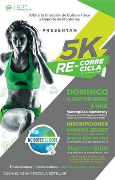 🏃 ¡Inscríbete en la Carrera 5K! Re-Corre y Re-Cicla con Alen. ♻ #VamosRayados #ESR