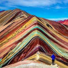Check out this incredible shot of Rainbow Mountain in Vinicunca, Peru from @awesome_naturepix. This overview of the unbelievably vibrant ridge can be found after a challenging trek up to nearly 17,000 feet (5,181 meters) above sea level.  Google Earth, Drone, Aerial Images & Photography   Found on @awesome_naturepix ///  by @adventuresoflilnicki