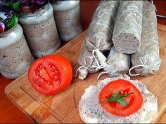 Domowa pasztetowa,idealna na kanapki. Bread Recipes, Sausage, Food And Drink, Appetizers, Cheese, Homemade, Dinner, Impreza, Youtube