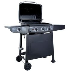Char-Broil 36,000 BTU 3-Burner Gas Grill, 522 Square Inch with Side Burner by Char-Broil