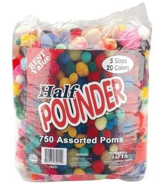 Shop pom poms for crafting projects at JOANN. Find assorted pom pom colors, sizes, and textures, including pom pom garlands and craft pom poms. Felt Patterns Free, Crochet Patterns For Beginners, Craft Stick Crafts, Easy Crafts, Easy Diy, Boyfriend Crafts, Easter Bunny Decorations, Easter Crafts For Kids, Valentine's Day Diy