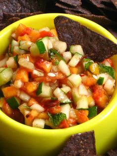 peach salsa....yummy!!