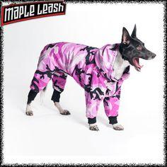 Pink Camo Dog Snowsuit