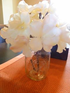 Flowers in Mason Jars for Centerpieces