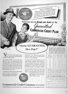 1940 Commercial Credit Company original vintage ad