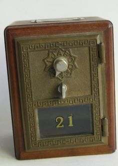 Vintage Post Office Mailbox Knothole Wooden Coin bank Forney Texas on Etsy, $65.00